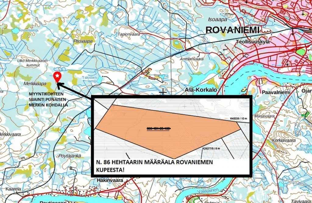 Myydään määräala metsätilasta Rovaniemellä.  Metsätila Rovaniemi